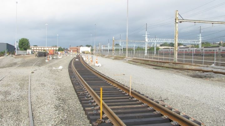new railroad tracks over gravel